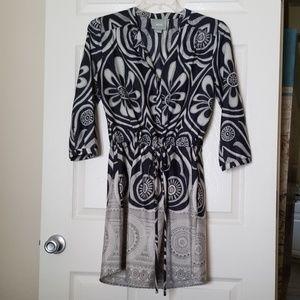Anthropologie Maeve drawstring tunic dress